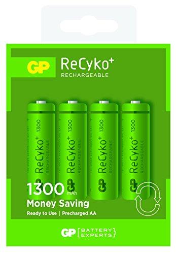 GP Blister de 4 piles rechargeables AA 1300 mAh NiMH