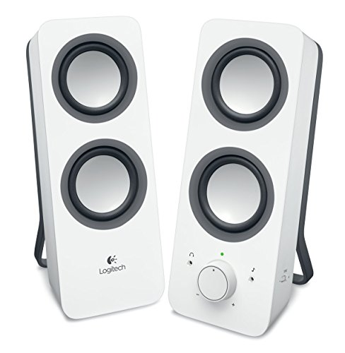 Logitech Z200 Altoparlanti per PC, Audio Stereo Completo, 10 Watt, 2 Ingressi Audio 3.5 mm, Jack ‎per Cuffie, Bassi Regolabili, Controllo Volume, Computer/TV/Smartphone/Tablet, Bianco