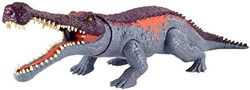 Jurassic World Morso Estremo, Dinosauro Sarcosuchus Attivabile, Giocattolo per Bambini 4+Anni,GVG68