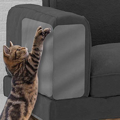 poetryer 2 Stück Katze Kratzschutz Sofa, Möbel Protector-Cat Scratch Couch Schutz mit Selbstklebende Pad, Claw Möbel Beschützer Für Stühle, Sofas, Betten