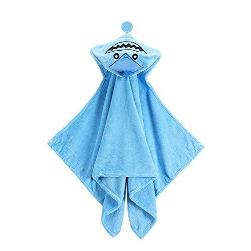 Baone Tommy Toalla con Capucha para niños de 1 a 7 años Diseño Ultra Suave y Extra Grande 100% algodón Toalla de baño con Capucha, Muy Absorbente, Toallas de baño