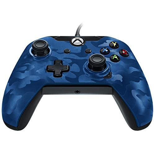 Pdp Controller Cablato Per Xbox One/S/X Et Pc - Camo Bleu 048-082-Eu-Cm02 - Essentials - Xbox One