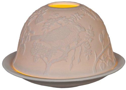 62200 Clayre & Eef - Lumino / Portalumino - Bianco ca. Ø 12 x 9 cm