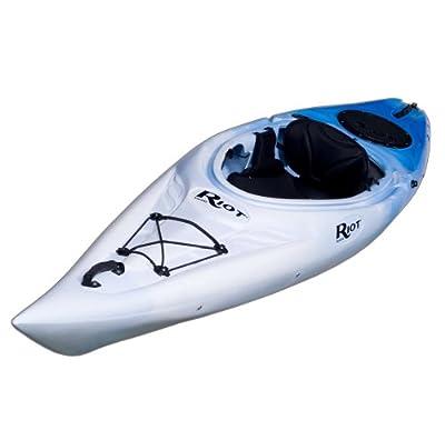 Riot Kayaks Quest 10 White/Blue 10ft Flatwater Recreational Kayak