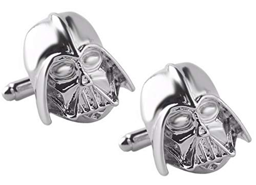 Star Wars Darth Vader Gemelos de aleación de zinc blanco plata para hombre
