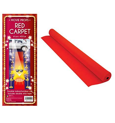 Tappeto a passatoia in stile red carpet, colore rosso Confezione originale Red