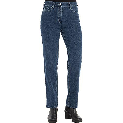 Zerres Damen Jeans Greta Straight Fit Comfort N Stretch, Größe:42;Farbe:68 STONEBLUE