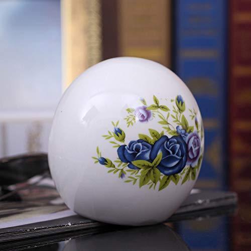GYHJG Posacenere per La Casa Posacenere Creativo da Regalo in Ceramica con Regalo di Affari di personalità Rotonda