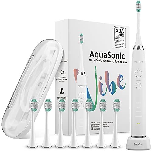 AquaSonic Vibe Series Ultra Whitening Toothbrush – ADA Accepted...