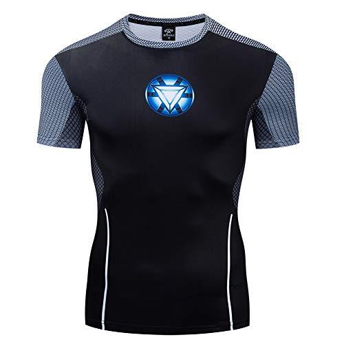 COJETER T-Shirt Pullover Super Heroes a Maniche Corte in Maglia Nera