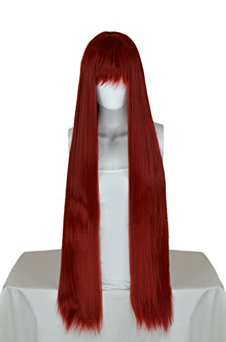 Epic Cosplay Persephone Dark Red Long Straight Wig 40 Inches (12DR)
