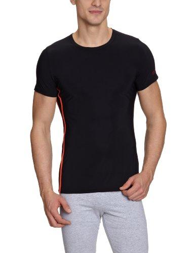HOM Herren Unterhemd 10120159 Sprint Shirt 03, Gr. 5 (M), Schwarz (BLACK COMBINATION M014)