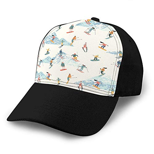 LJKHas232 Classic Cotton Baseball Cap Hat Casual Unisex Adjustable Soft Skiers and Snowboarders Sport Baseball Hat