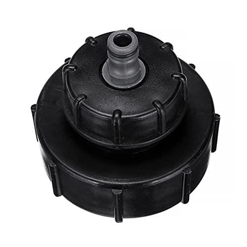 "yaoqijie Adaptador de tanque de plástico negro IBC Tap Hoze Cap de gorro de 1000 litros 4 ""a 1/2"" Ajuste de la manguera para la manguera de salida del tanque de stillage Fit para IBC Piezas de manguer"