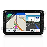 "JOYX Android 10 Autoradio Car Stereo Navigation Fit for Volkswagen VW Skoda POLO PASSAT B6 CC TIGUAN GOLF 5 Fabia - GPS 2 Din - GRATUITI Telecamera & Canbus - 2G/32G - 8"" -Supporto DAB WLAN BT Carplay"