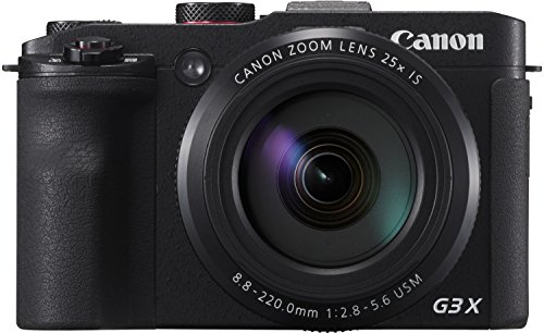 Canon PowerShot G3X - Cámara digital de 20.2 MP (zoom 25x, pantalla de 3.2', WiFi)