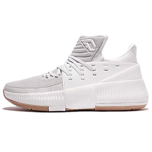 adidas D Lillard 3 - Zapatillas de Baloncesto para Hombre, Blanco - (FTWBLA/Negbas/Escarl) 40 2/3
