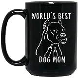 N\A Taza de café Negro con el Dedo Medio de la Mejor mamá Dogo Argentino del Mundo