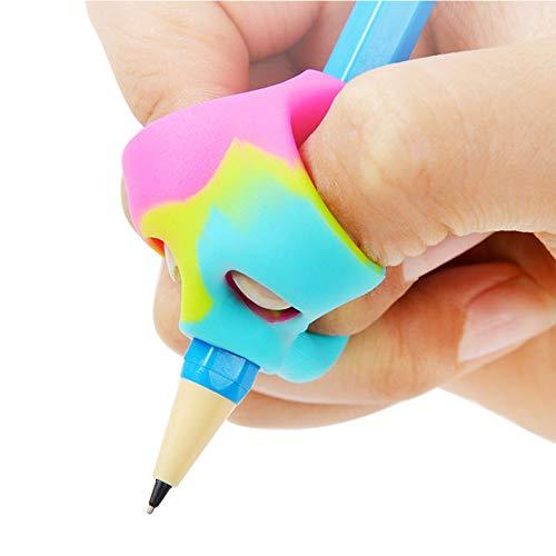 Empuñaduras de lápiz 3 piezas bolígrafo para niños juego de agarre de ayuda para escribir escritura a mano para preescolar color aleatorio (Colores aleatorios 3 piezas)