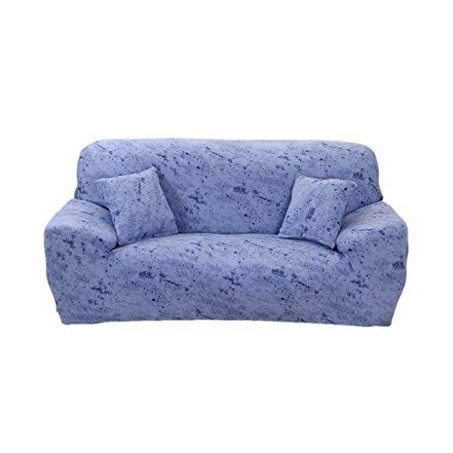 Generic Fodera per Divano con Fodera per Poltrona 1/2/3 Posti - Morbido Elastico Lavabile - 3 posti 190-230cm azzurro