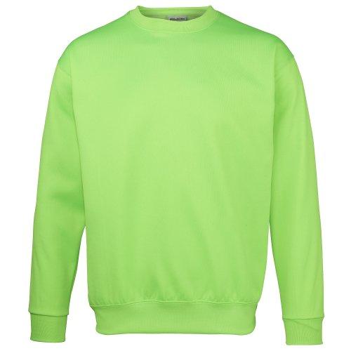 AWDis Herren Sweatshirt/Pullover in Neonfarben (S) (Neongrün)