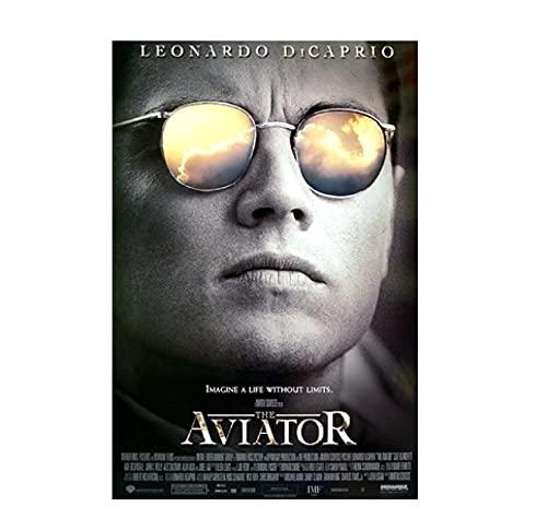 PELÍCULA El Aviador Leonardo DiCaprio Póster Decoración de pared Pintura de la habitación Pintura en lienzo (50X70Cm) -20x28 Pulgadas Sin marco
