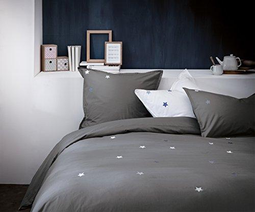 MATT & ROSE Parure de lit : Housse de Couette et taie d'oreiller carrée - 100% Coton