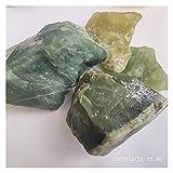 Piedra Rugosa Chunk Natural Green Xiuyan Jade Orass Piedra One of China Cuatro famosos Material de tallado de jade, Decoración del acuario del tanque de pescado ( Color : 500g , Size : Random size )
