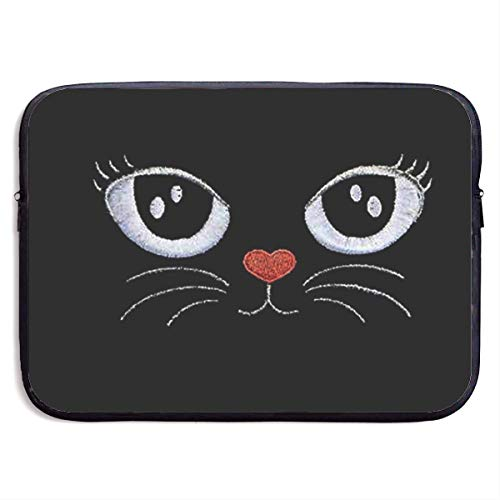 Laptop Sleeve Case Kitty Cat Notebook Bag Laptop Shoulder Bag Protective 15 Inch