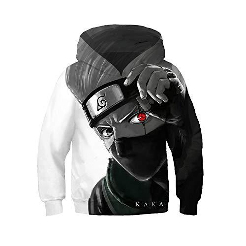 My Sky Kids Boys Kakashi Pullover Hoodie Sasuke Jacket Cosplay Costume Casual Sweatshirt (Kakashi, 12T-13T (Tag L))