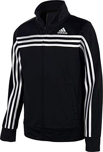 adidas Boy's Colorblock Tricot Jacket (Black, X-Small)