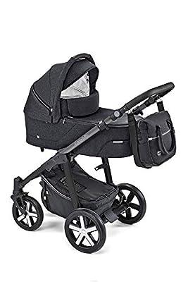 Baby Design Husky - Cochecito combi 2 en 1, color negro 10