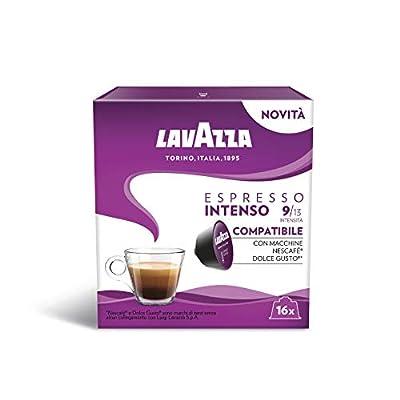 Dolce Gusto Compatible Lavazza Intenso Espresso Coffee Capsules (6 Packs of 16)