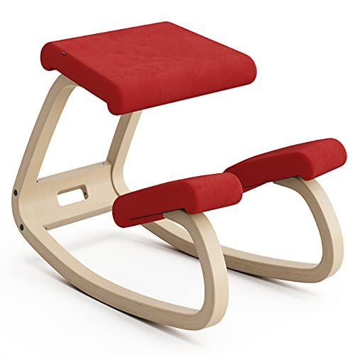 Variable Balans, butaca Original diseñada por Peter Opsvik - Naturaleza/Rojo