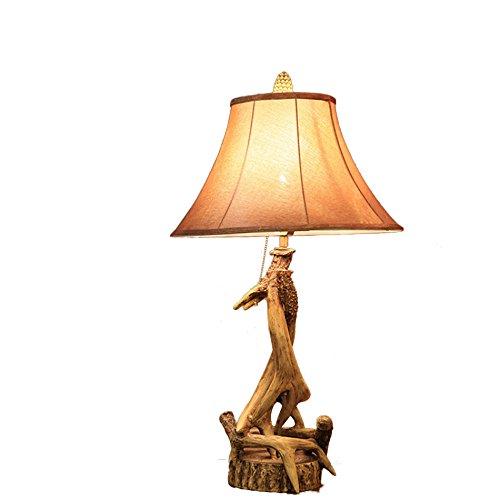 ZWL Lampe de table à décoration rétro, studio d'étude créatif Décoration de bureau Lampe de table en résine Tête unique E27, bouton de commutateur d'alimentation 40 * 72 cm fashion.z ( taille : 40*72cm )