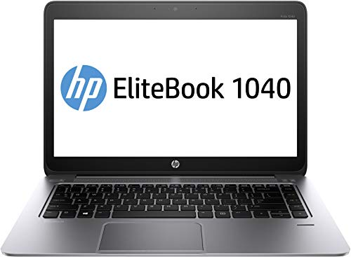 HP EliteBook Folio 1040 G2 14 Inch Laptop PC, Intel Core i5-5300U up to 2.9GHz, 8G DDR3L, 256G SSD, WiFi, VGA, DP, Windows 10 Pro 64 Bit Multi-Language Support English/French/Spanish(Renewed)