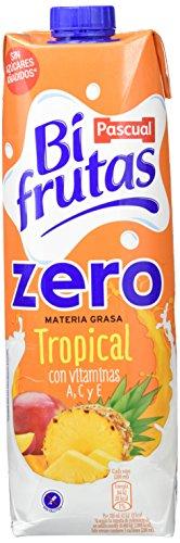 Bifrutas Zumo Leche TROPICAL ZERO - Paquete de 8 x 1000 ml - Total: 8000 ml