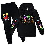 Parkourer Niño Sudaderas con Capucha Pantalones Traje Among us Game Tema Imprimió Hoodies Sweatshirt Conjuntos para Niño