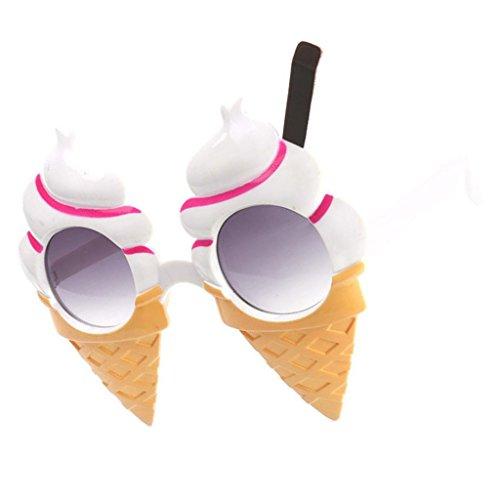 Niedliche Sonnenbrille Partybrille Spaßbrille Brillen Kostüm Gläser Party Zubehör in vielen Motiv - Eiscreme