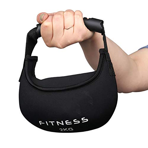 Yajun Soft Kettlebell Fitness Sandsack Gewichte Fitnessgeräte Widerstandsbänder Grip Dumbell für Frauen Männer Krafttraining,5KG