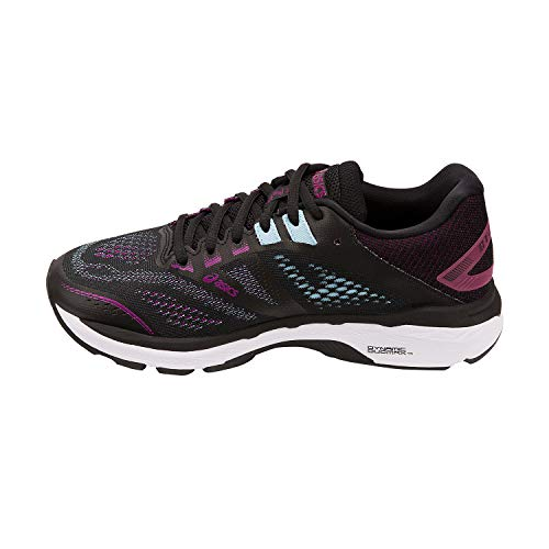 ASICS Women's GT-2000 7 (D) Running Shoes, 10W, Black/Skylight