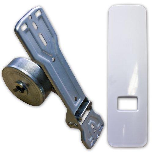 Gurtwickler inkl. Design-Abdeckplatte Lochabstand 135mm - 185mm stufenlos für Rollladen/Rolladen (für 20-24mm Gurtband)