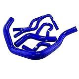 Kit de tuyaux en silicone 6pcs intercooler radiateur bleu tube adapté pour 92-00 Honda Civic EK EG B16A B18C