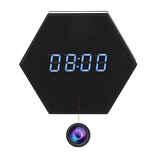 YMXLJJ WiFi Alarma Reloj Mini cámara 1080P HD IP P2P DVR cámara Noche visión infrarroja Deportes Inicio Oficina Seguridad cámara Soporte Android e iOS