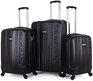 جيوردانو طقم حقائب سفر بعجلات,  3 قطع مع 4 عجلات, اسود - 826301