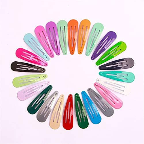 WULOVEMI Pin for Capelli 50 pz/Lotto Stile Coreano Ragazze Accessori for Capelli Cartoon Hairclip Candy Color Flower Capelli Clip Clip Barrette Clip for Capelli Clip for Bambini