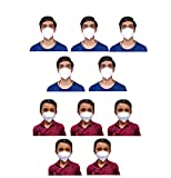 KIARVI GALLERY n95 mask for Men and Kids Pack Reusable Washable Anti-Pollution Face masks specially for Kidz With 5 Layers Protection With Meltblown Fabric Mask For Boy and Kids(White Pack of 10)