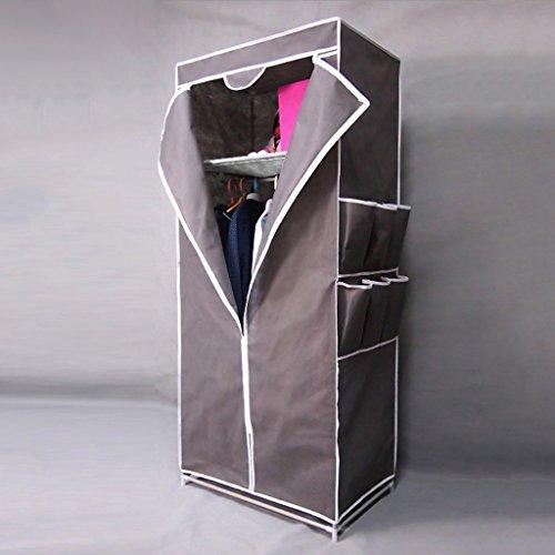 Mmm& Petits Tissus Simple Acier Armoire Simple Dortoir Rehausse Assemblage D'épaississement Pli Planche Armoires (Couleur : Gray)