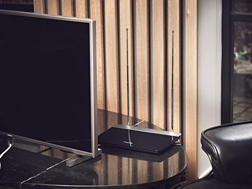 Philips SDV6227/12 Digital Indoor DVB-T Antenne (47dB, HDTV/UHF/VHF/UKW) schwarz/Silber