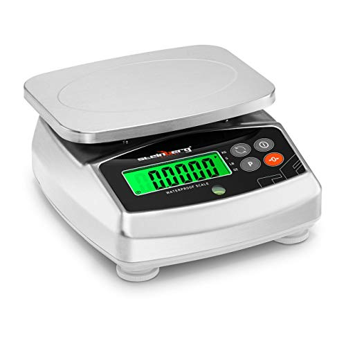 Steinberg Systems Balance De Table Cuisine Électronique Alimentaire Culinaire Ménage Numérique Aliment SBS-WPS-6 (Plage 4 g à 6 kg, ±0,2 g, kg/g/lb/oz, Étanche, Écran LCD)
